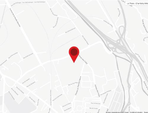 map carte Le Phare Grand Chambéry