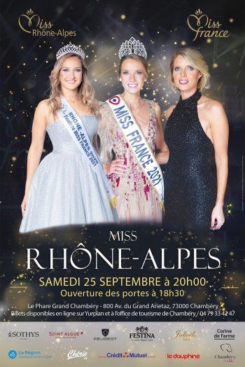 Affiche élection de Miss Rhône-Alpes 2021 le Phare parc expo Chambéry
